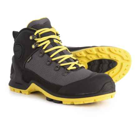 ECCO Biom Terrain Akka Mid Lite Gore-Tex® Hiking Shoes - Waterproof (For Women) in Black/Titan/Buttercup - Closeouts