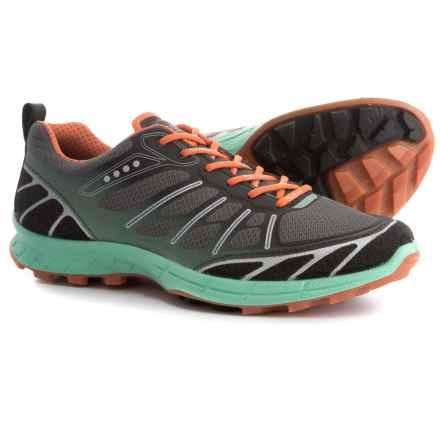 ECCO Biom Trail FL Trail Running Shoes (For Women) in Black/Granite Green/Orange - Closeouts
