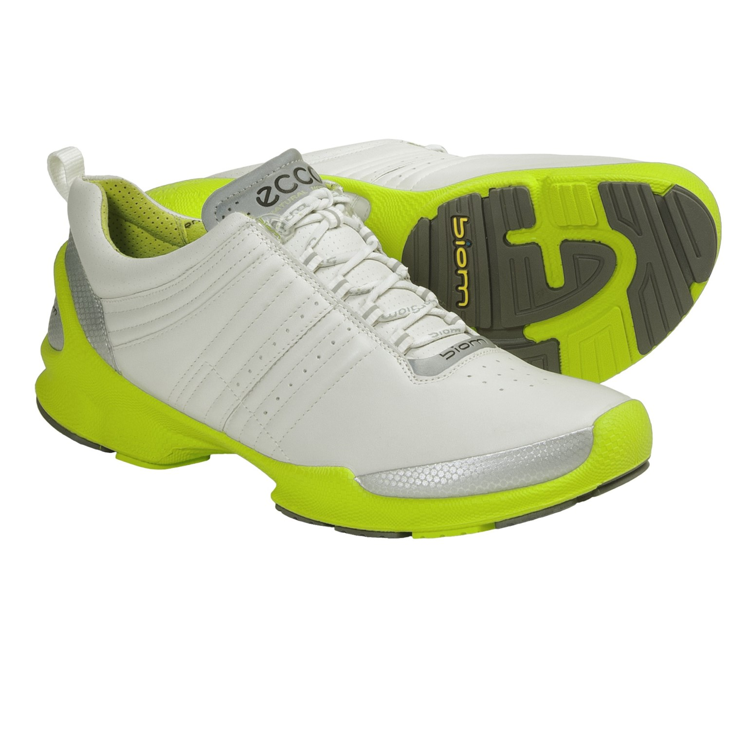 ECCO Biom Trainer Cross Training Shoes (For Men) in White/Lime Green