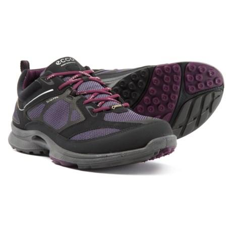ECCO BIOM Ultra Quest Gore-Tex® Hiking Shoes - Waterproof (For Women) in Black/Light Purple/Burgundy