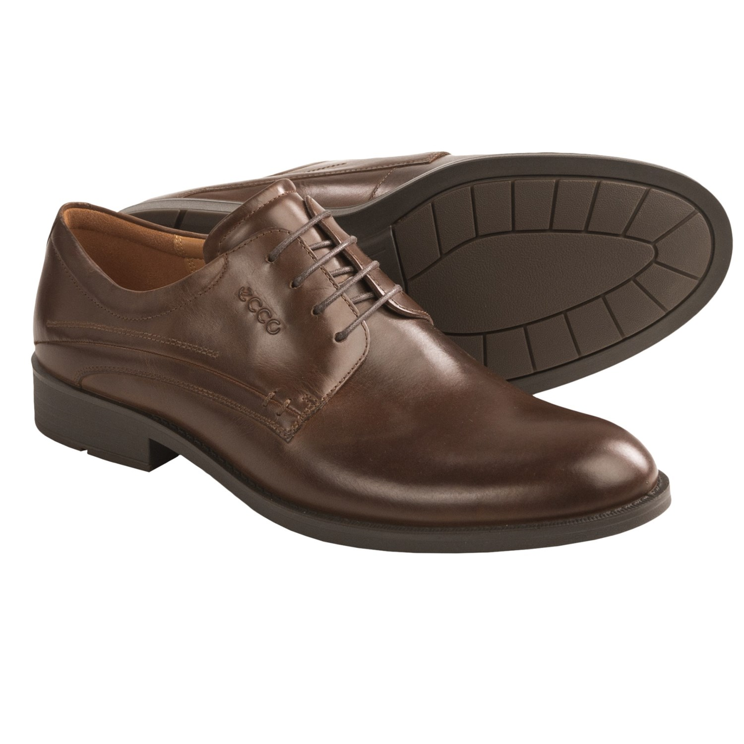 ECCO Birmingham Oxford Shoes - Leather (For Men) in Cocoa Brown