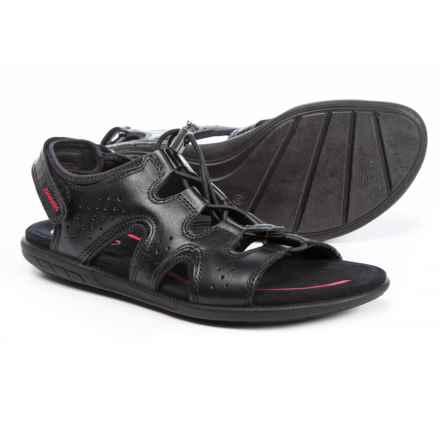 ECCO Bluma Comfort Sandals - Leather (For Women) in Black Feather - Closeouts