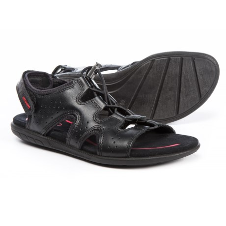 ECCO Bluma Comfort Sandals - Leather (For Women) in Black Feather