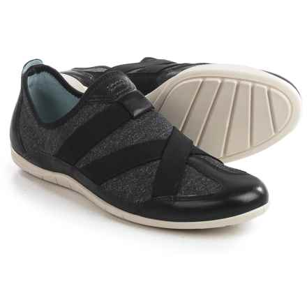 ECCO Bluma Sneakers - Slip-Ons, Leather (For Women) in Black - Closeouts