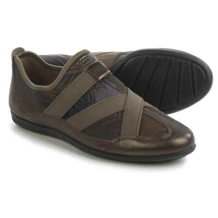 ECCO Bluma Sneakers - Slip-Ons, Leather (For Women) in Licorice - Closeouts