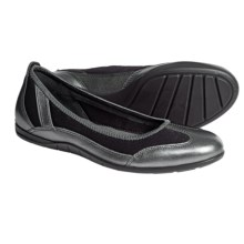 ECCO Bluma Summer Ballet Flats (For Women) in Dark Shadow/Metallic Licorice - Closeouts