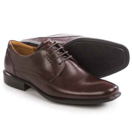 ECCO Cairo Perforation Oxford Shoes - Leather (For Men) in Rust - Closeouts