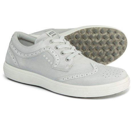ECCO Casual Hybrid Wingtip Golf Shoes - Leather (For Men) in Concrete