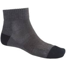 ECCO City Cushioned Dress Socks - Lightweight, Quarter-Crew (For Men) in Charcoal - Closeouts