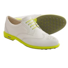 ECCO Classic Golf Hybrid Golf Shoes (For Women) in White/Sulphur - Closeouts