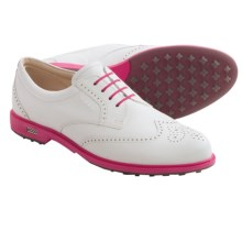 ECCO Classic Golf Hybrid Golf Shoes (For Women) in White/White/Beetroot - Closeouts