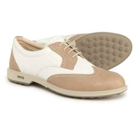 ECCO Classic Hybrid Golf Shoes (For Women) in Sand/White - Closeouts