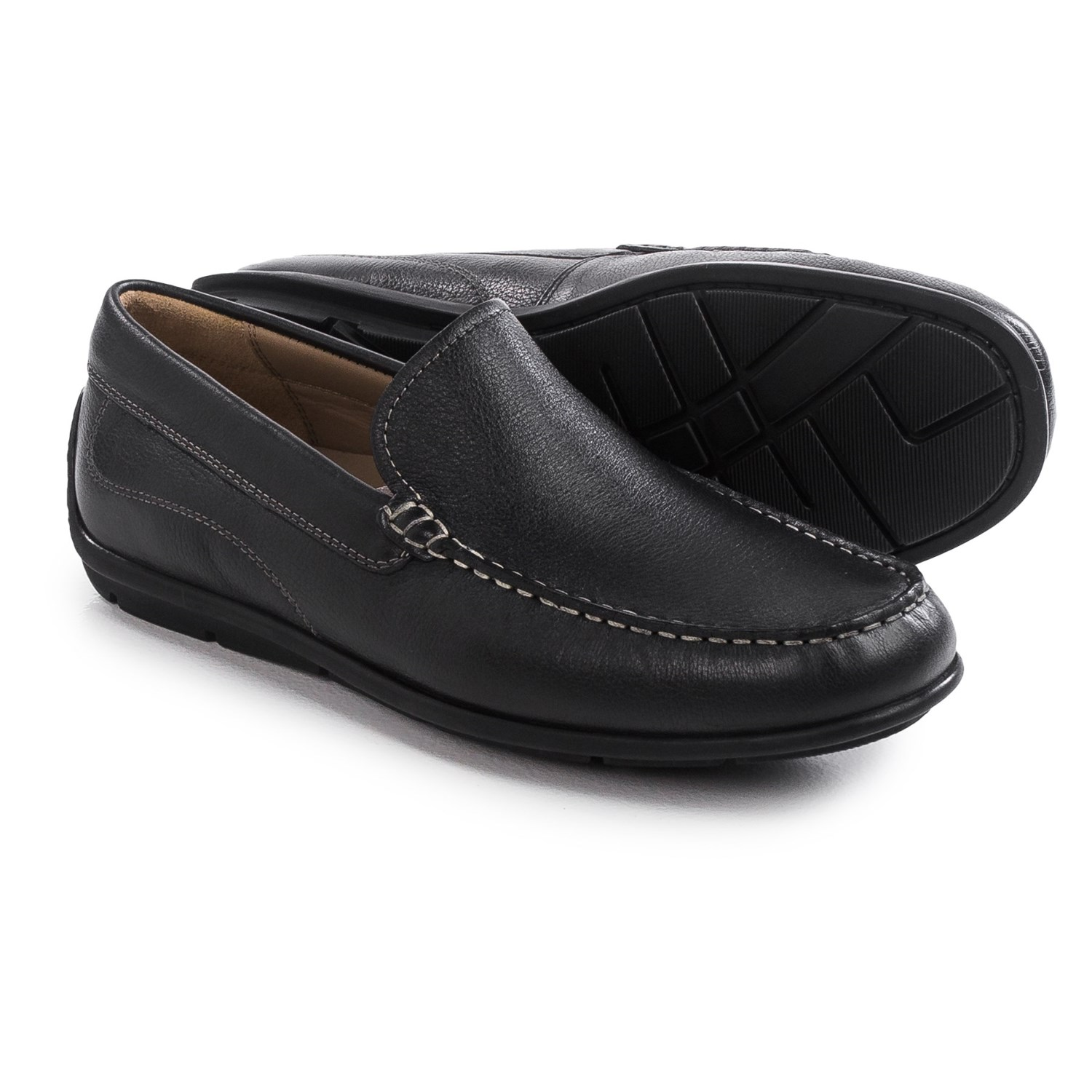 Ecco Black Slip On Shoes