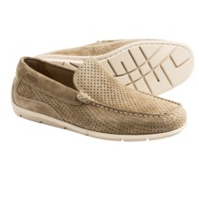 ECCO Classic Perforated Leather Moccasins (For Men) in Beige Suede - Closeouts