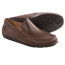 ECCO Classic Perforated Leather Moccasins (For Men) in Coffee Leather - Closeouts
