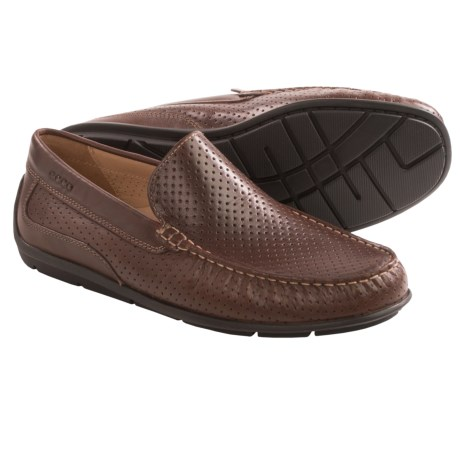 ECCO Classic Perforated Leather Moccasins (For Men)