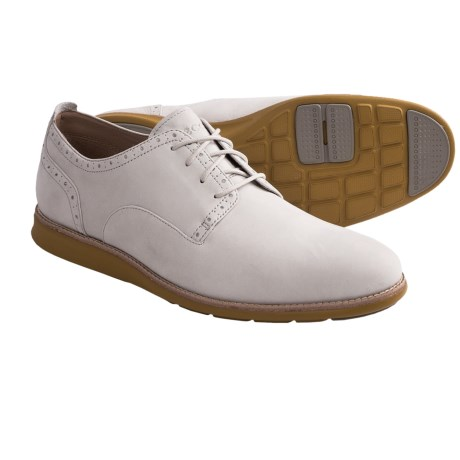 ECCO Clayton Oxford Shoes - Leather (For Men) in Shadow White