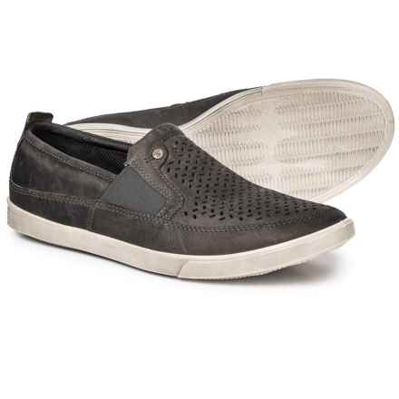 ECCO Collin Leather Shoes - Slip-Ons (For Men) in Titanium