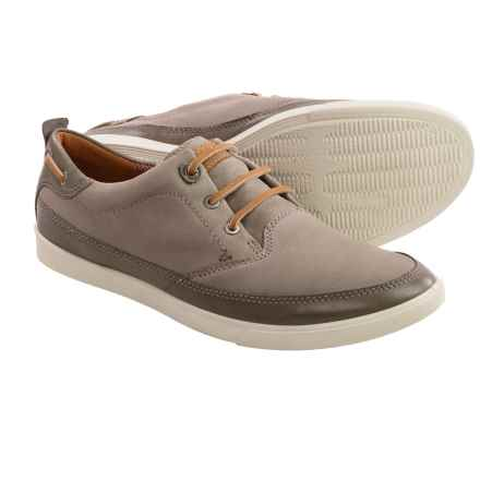 ECCO Collin Nautical Sneakers - Leather (For Men) in Warm Grey/Stone - Closeouts
