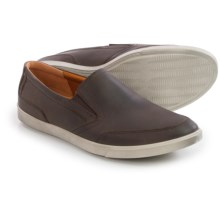 ECCO Collin Shoes - Leather, Slip-Ons (For Men) in Mocha/Cocoa Brown - Closeouts