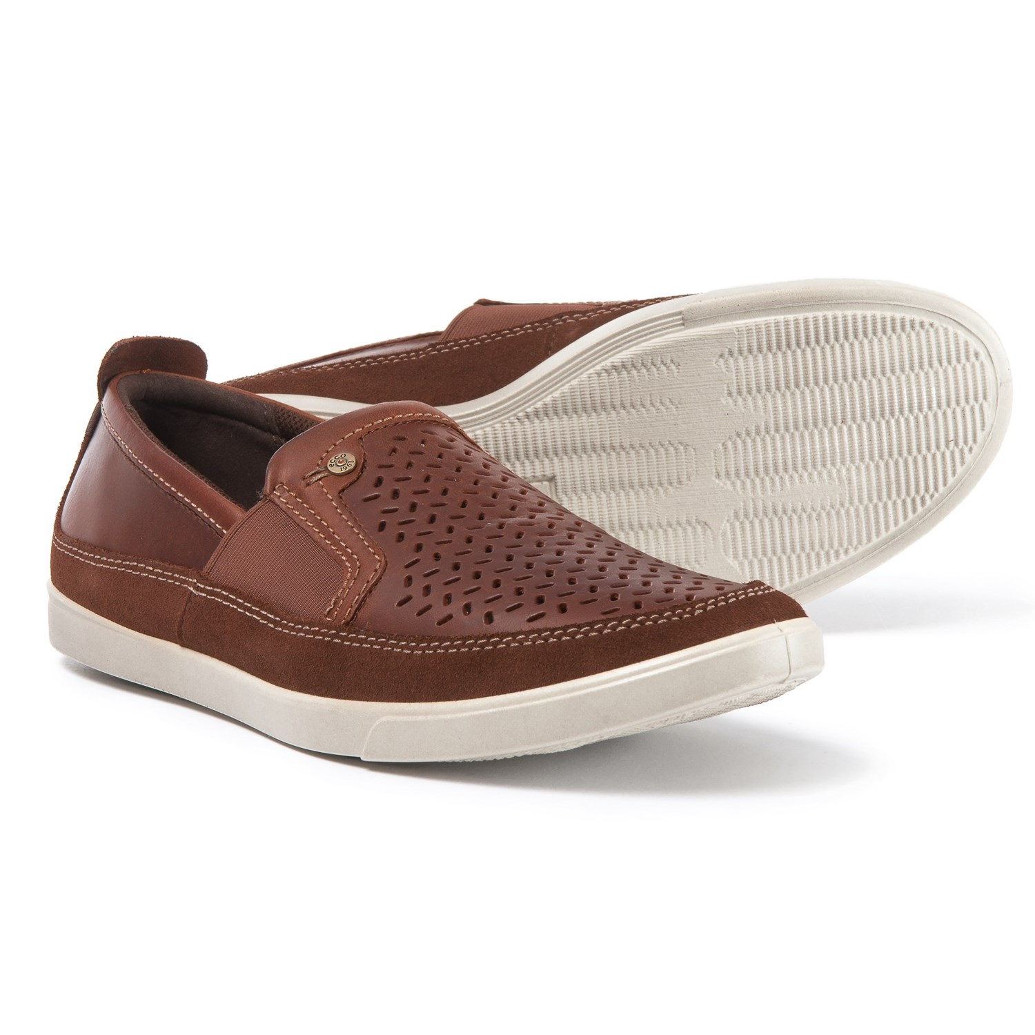 ECCO Collin Trend Loafers - Leather, Slip-Ons (For Men) in Bison ...