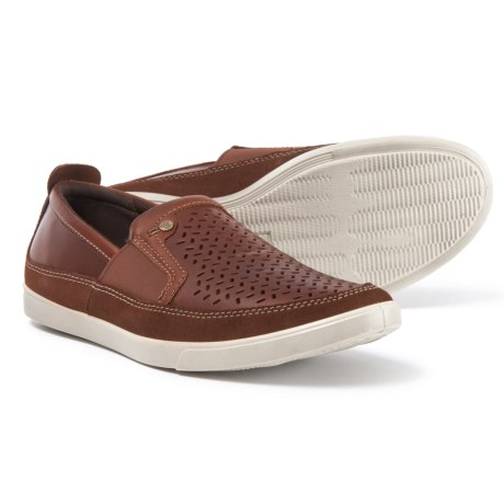 ECCO Collin Trend Loafers - Leather, Slip-Ons (For Men) in Bison/Cognac