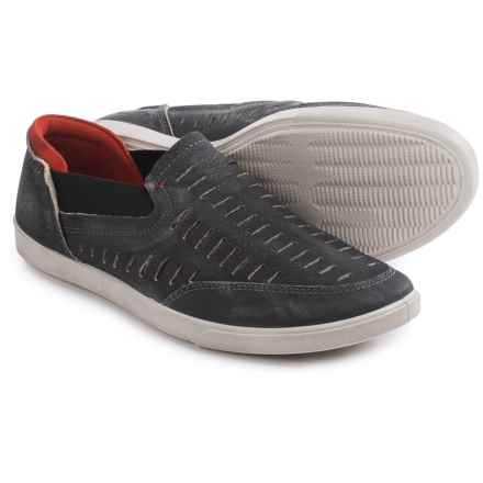 ECCO Collin Trend Loafers - Leather, Slip-Ons (For Men) in Black - Closeouts