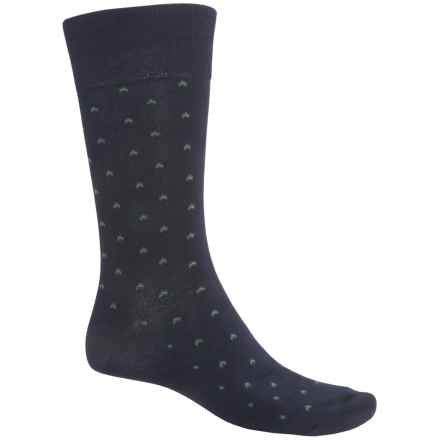 ECCO CoolMax® Birdseye Dress Socks - Crew (For Men) in Navy - Closeouts