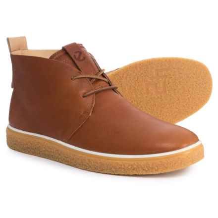ECCO Crepe Tray Chukka Boots - Leather (For Men) in Lion/Powder - Closeouts
