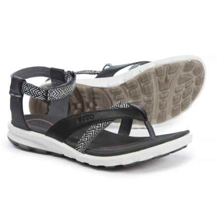 ECCO Cruise Casual Sandals (For Women) in Black/Black Toffel/Deco - Closeouts