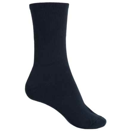 ECCO Cushion Comfort Crew Socks (For Women) in Navy - Closeouts