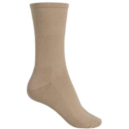 ECCO Cushion Comfort Socks - Crew (For Women) in Beige - Closeouts
