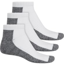 ECCO Cushion Sport Ankle Socks - 3-Pack (For Men) in White - Closeouts