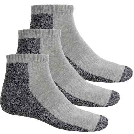 ECCO Cushion Sport Socks - 3-Pack, Ankle (For Men) in Gray - Closeouts