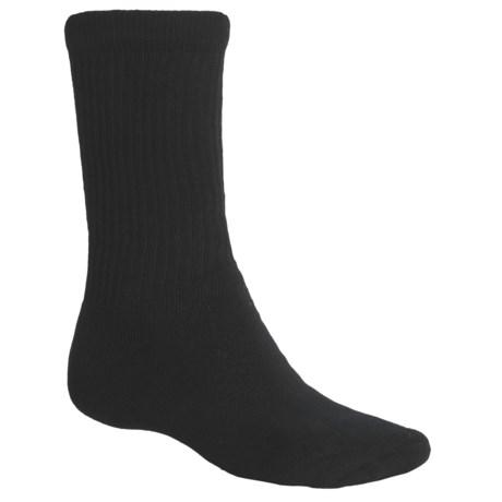 ECCO Cushioned Golf Socks - 3-Pack, Crew (For Men) in Black/Black/Black