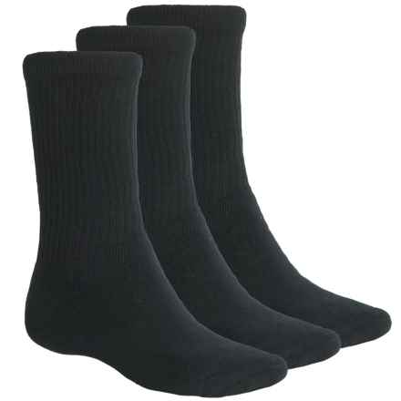 ECCO Cushioned Golf Socks - 3-Pack, Crew (For Men) in Black - Closeouts