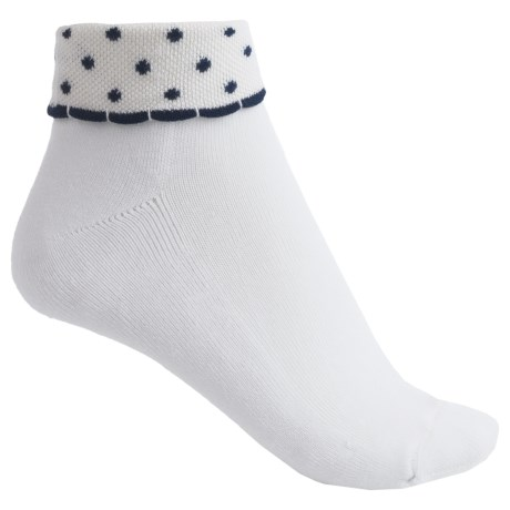 ECCO Cushioned Rollover Anklet Golf Socks - Pima Cotton (For Women)