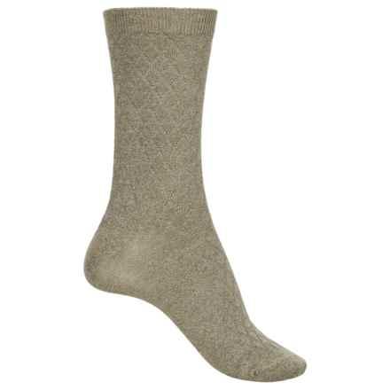 ECCO Diamond-Knit Socks - Crew (For Women) in Moss - Closeouts