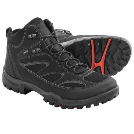 ECCO Drak Mid Gore-Tex® Boots - Waterproof (For Men) in Black/Black - Closeouts