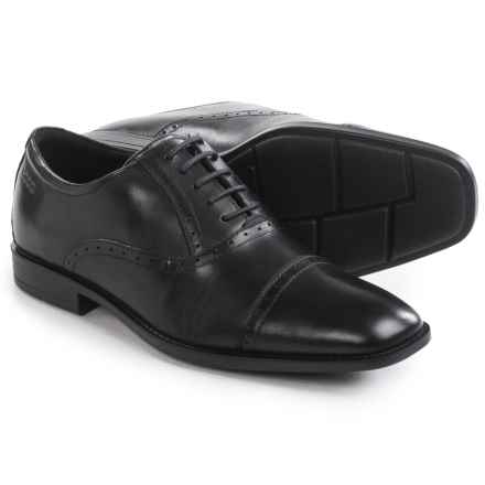 ECCO Edinburgh Cap-Toe Tie Shoes - Leather (For Men) in Black - Closeouts