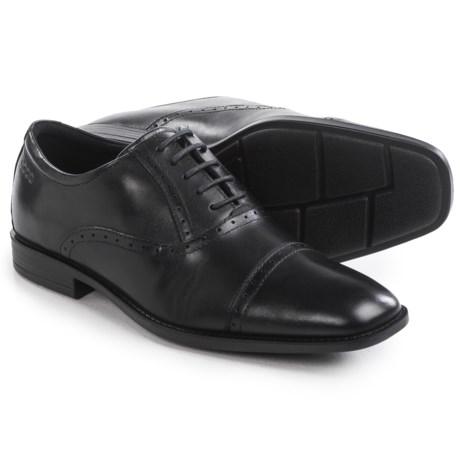 Cross-border:- ECCO Edinburgh Cap-Toe Tie Shoes – Leather (For Men)