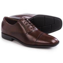 ECCO Edinburgh Cap-Toe Tie Shoes - Leather (For Men) in Mink - Closeouts