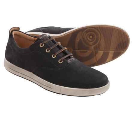 ECCO Eisner Tie Nubuck Sneakers (For Men) in Black/Coffee - Closeouts
