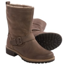 ECCO Elaine Buckle Boots - Leather, Wool Lined (For Women) in Cocoa Brown - Closeouts