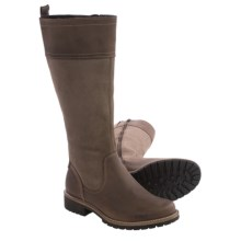 ECCO Elaine Tall Leather Boots (For Women) in Cocoa Brown/Stone - Closeouts