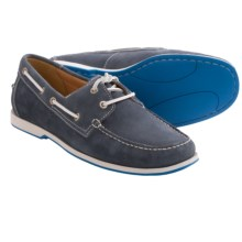 ECCO Ellery Boat Shoes (For Men) in Marine Suede - Closeouts