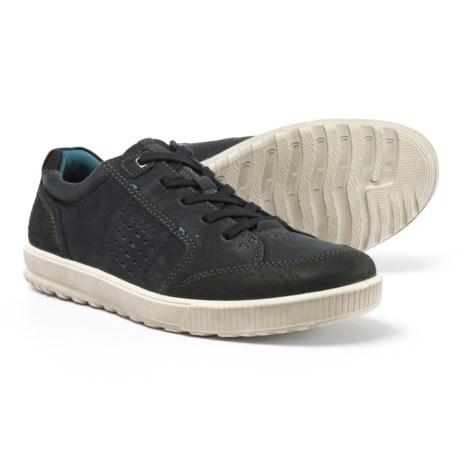 ECCO Ennio Casual Tie Sneakers - Nubuck (For Men) in Black