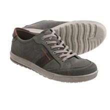 ECCO Ennio Retro Sneakers - Leather (For Men) in Warm Grey/Cognac - Closeouts