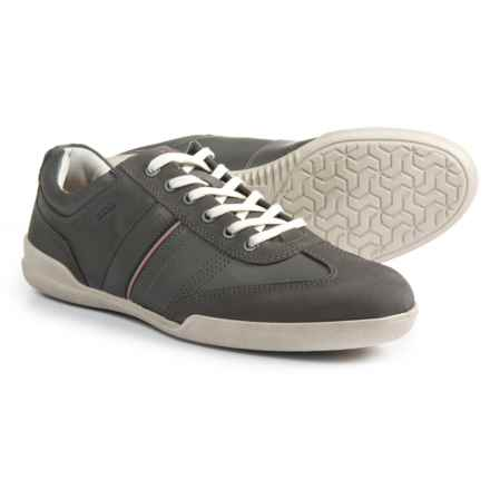 ECCO Enrico Retro Sneakers -Leather (For Men) in Moonless/Titanium - Closeouts