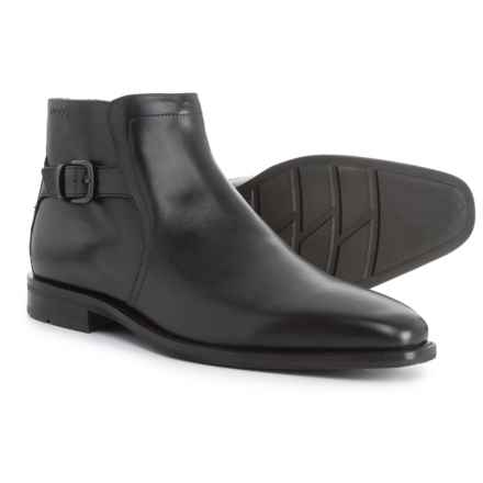ECCO Faro Side-Zip Boots - Leather (For Men) in Black - Closeouts